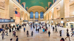 Timelapse of people walking, moving fast in Grand Central Station in New York Footage
