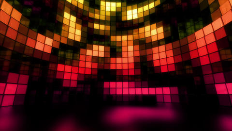 Neon Tiles Light Stage Revolving - Sunset Color2 - Random Patern01 Animation