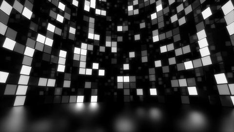 Neon Tiles Light Stage Revolving - White - Dots Fast Animation