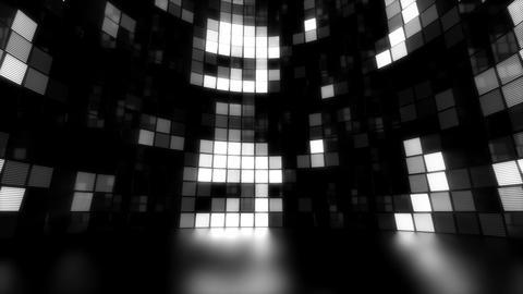 Neon Tiles Light Stage Revolving - White - Random Patern03 Animation