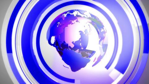 Globe background blue Animación