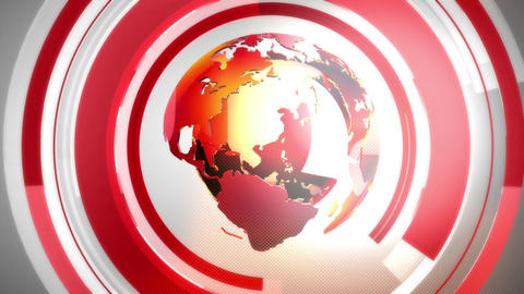 Globe background red CG動画素材