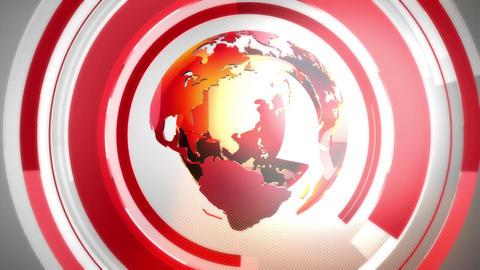 Globe background red Animación