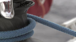 Cable winch close up slow motion Footage