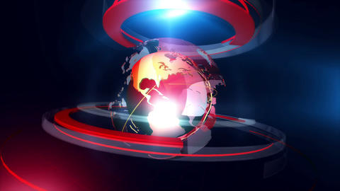 Globe ring background red CG動画素材