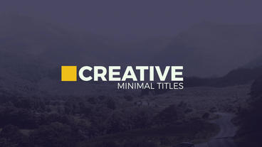 Creative Minimal Titles After Effects Template