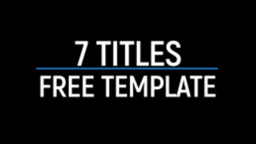 7 Titles - Free Template After Effects Templates