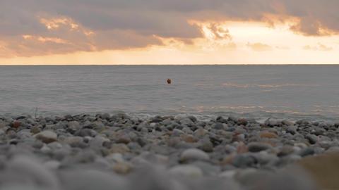Buoy on the suset sea - Georgia Footage
