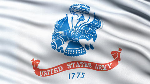 4K United States of America Army flag waving in the wind Animation