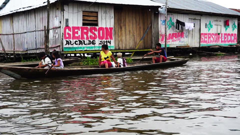 Houses in Iquitos, Peru Footage