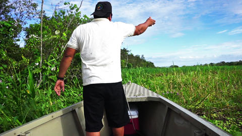 Clearing a path for a Boat Footage