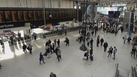 Waterloo station by day - LONDON, ENGLAND Live Action