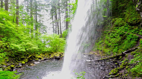 View Behind Horsetail Falls Footage