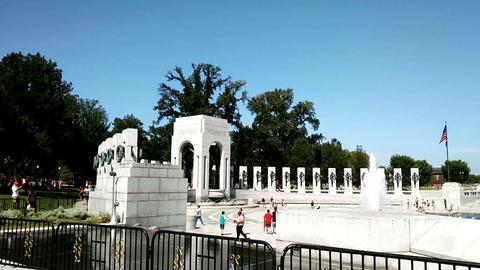 The panoramic view of National Mall, Washington ビデオ