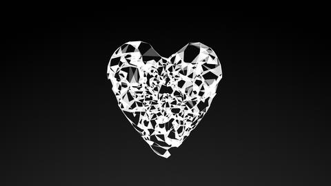 model of heart, abstract geometric composition Animation
