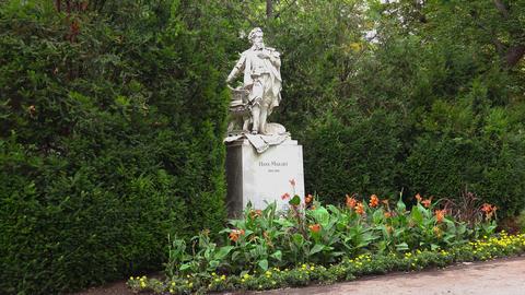 Monument to Hans Makart. Vienna. Austria. 4K Footage
