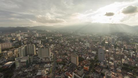 Timelapse of Jalan Dato Keramat, Georgetown from KOMTAR, The Top view Footage