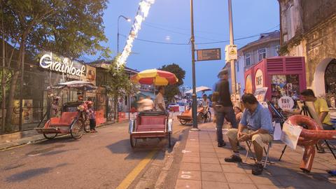 Tourist enjoy the local street view at Armenian Street Footage