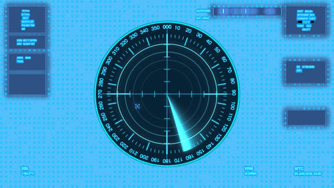 Futuristic user interface isolated on transparent background.Radar with target Animation