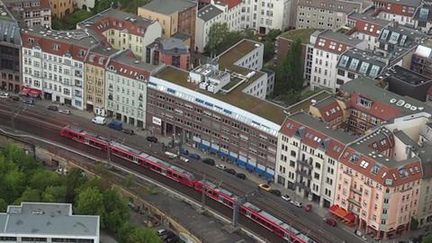 Berlin S-Bahn aerial view Archivo