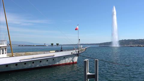 GENEVA, SWITZERLAND - JULY 06, 2017: Geneva, Geneva Lake and Geneva Footage