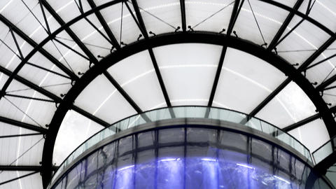 Aquarium inside Radisson Hotel Sea Life in Berlin Stock Video Footage
