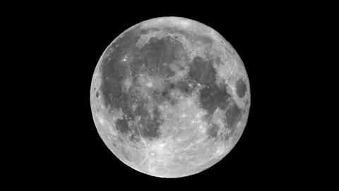 Full moon seen with telescope Live Action