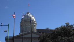 USA Virginia Norfolk dome of MacArthur memorial museum and blue sky Footage