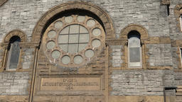USA Virginia Norfolk facade with rose window of Epworth United Methodist Church 영상물
