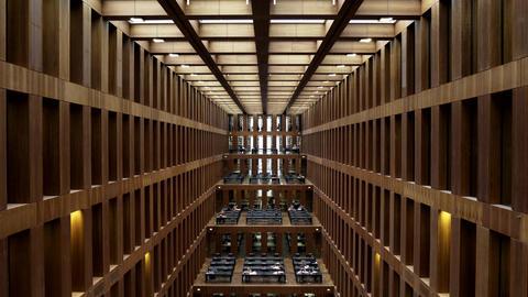 Inside the University Library of Humboldt Universität of Berlin Filmmaterial