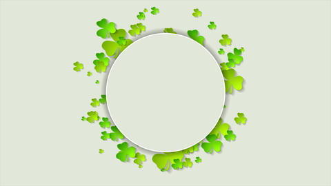 St. Patricks Day green shamrock clovers video animation CG動画素材