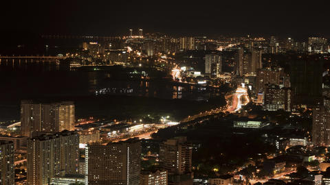 Nightscape at Lebuhraya Tun Dr Lim Chong Eu Footage