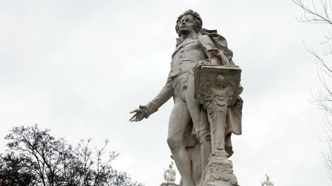 Mozart Statue in Vienna, Austria. Wolfgang Amadeus Mozart is definitely one of Live Action