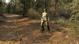 Russian soldier dies in the woods,animation Footage
