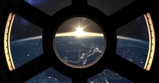 Sunset seen from the ISS CG動画素材