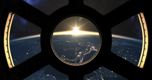 Slow sunset seen from the ISS Animation
