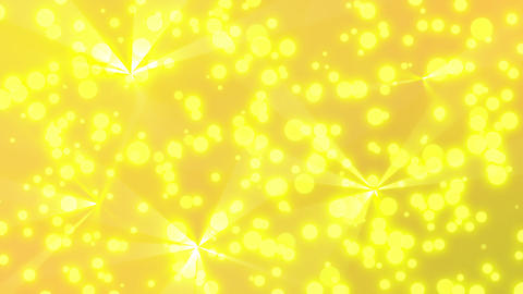 yellow particle shining background loopable CG動画素材