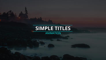 Motion Titles After Effects Templates
