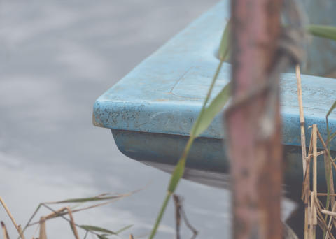 Close-up of part of a boat フォト