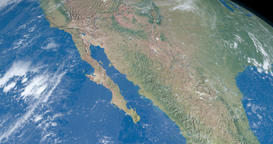 California gulf in planet earth seen from a satellite in outer space Animation