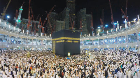 Mecca pilgrimage to the sacred festival (time-lapse) Footage