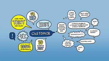 Adjustable Speech Bubbles After Effects Template