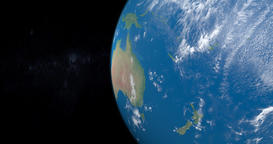 Polynesia, Micronesia and Melanesia in planet earth, view from outer space Animation