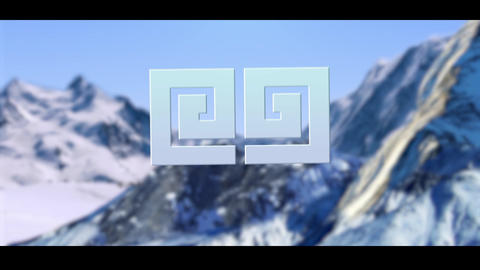 Logo in mountain Premiere Pro Template