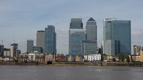 Canary Wharf in London Live Action