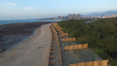 Danshui Beach near Taipei, Taiwan 画像