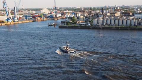 Port of Hamburg in Hamburg Footage