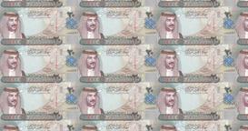 Banknotes of twenty bahraini dinars of Bahrain rolling, cash money Animation