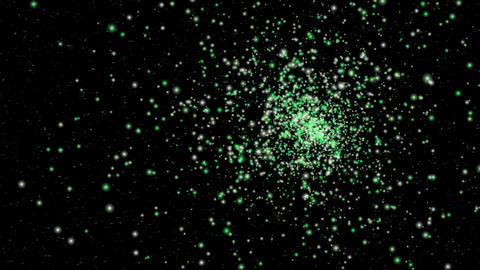 Green Particles Explosion Animation