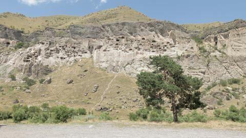 The ancient cave monastery Vardzia - Georgia ビデオ